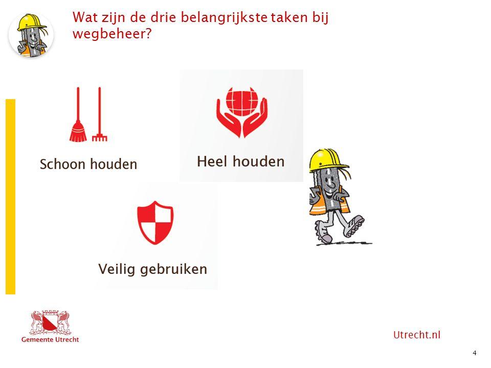 Utrecht.nl Wat zijn de drie belangrijkste taken bij wegbeheer 4