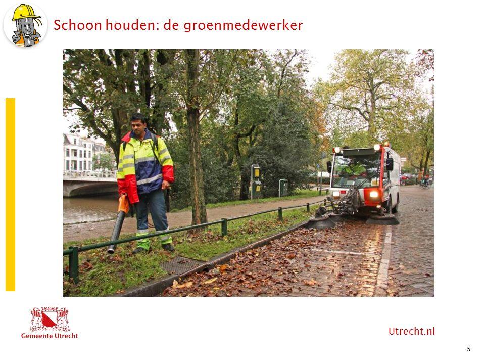Utrecht.nl Schoon houden: medewerker reiniging 6 2015 versie 1.1 Vuilophaalboot tijdens vuilohaalronde De Utrechtse 'bierboot'