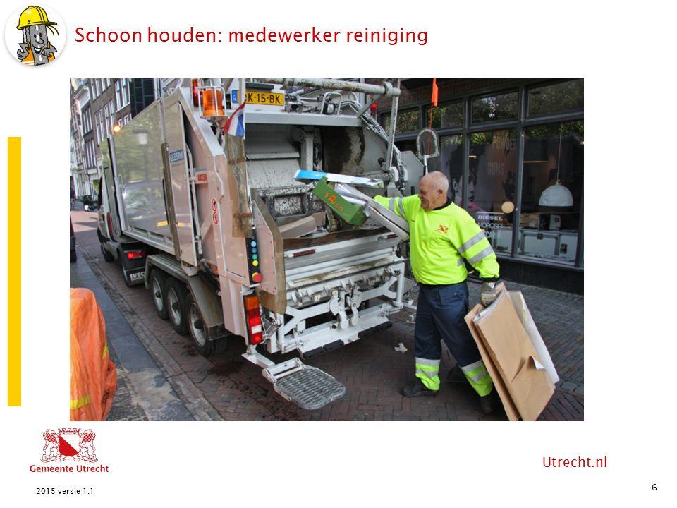 Utrecht.nl Heel houden: de straatmaker /lapper 7 2015 versie 1.1 knielappen HelpersStraatmaker / lapper zand Kapotte weg schep Straat hamer afzethek stenen pion