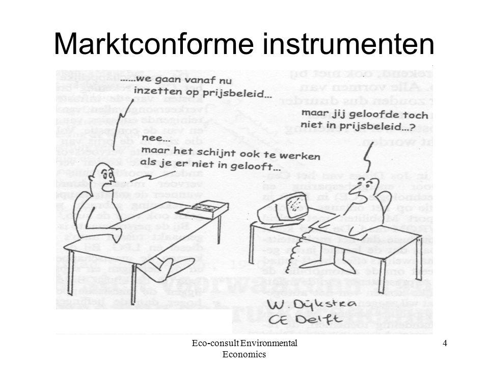 Eco-consult Environmental Economics 4 Marktconforme instrumenten