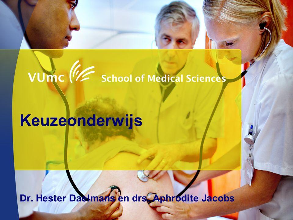 Keuzeonderwijs Dr. Hester Daelmans en drs. Aphrodite Jacobs