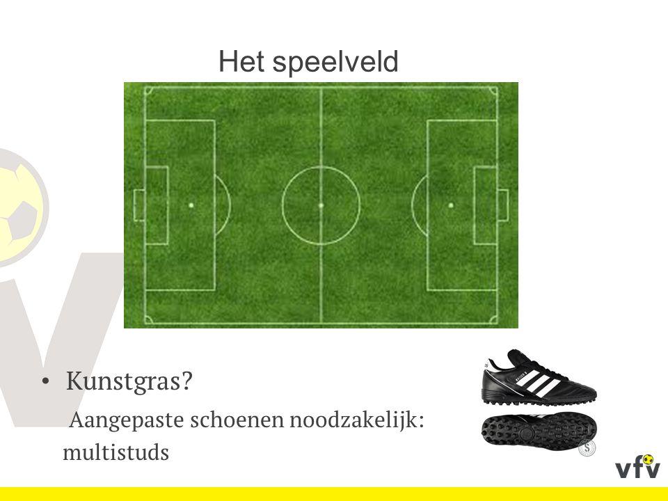 Het speelveld Kunstgras Aangepaste schoenen noodzakelijk: multistuds