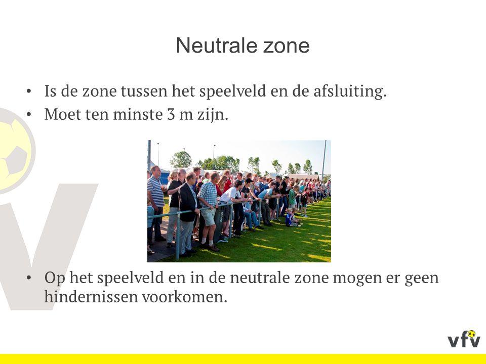 Neutrale zone Is de zone tussen het speelveld en de afsluiting.