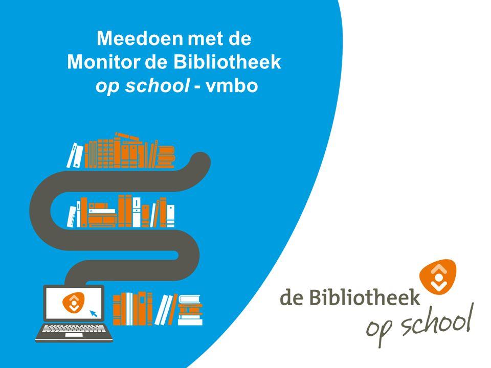 Meedoen met de Monitor de Bibliotheek op school - vmbo