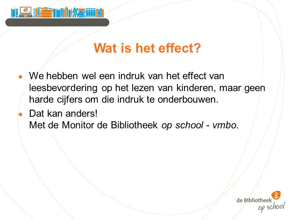 Wat is het effect.