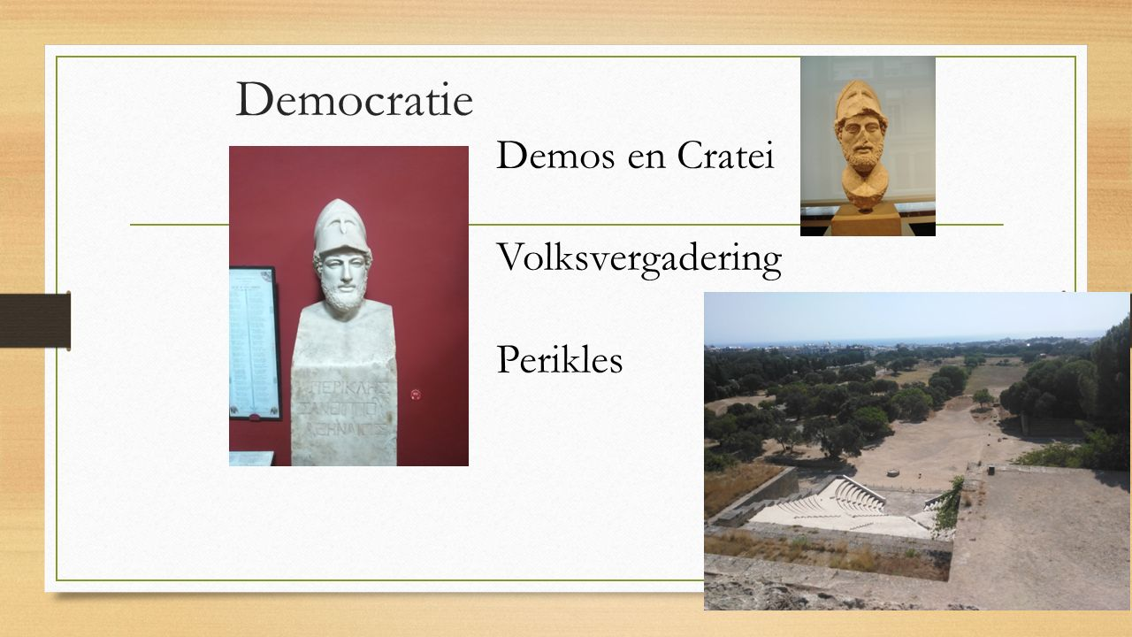Democratie Demos en Cratei Volksvergadering Perikles