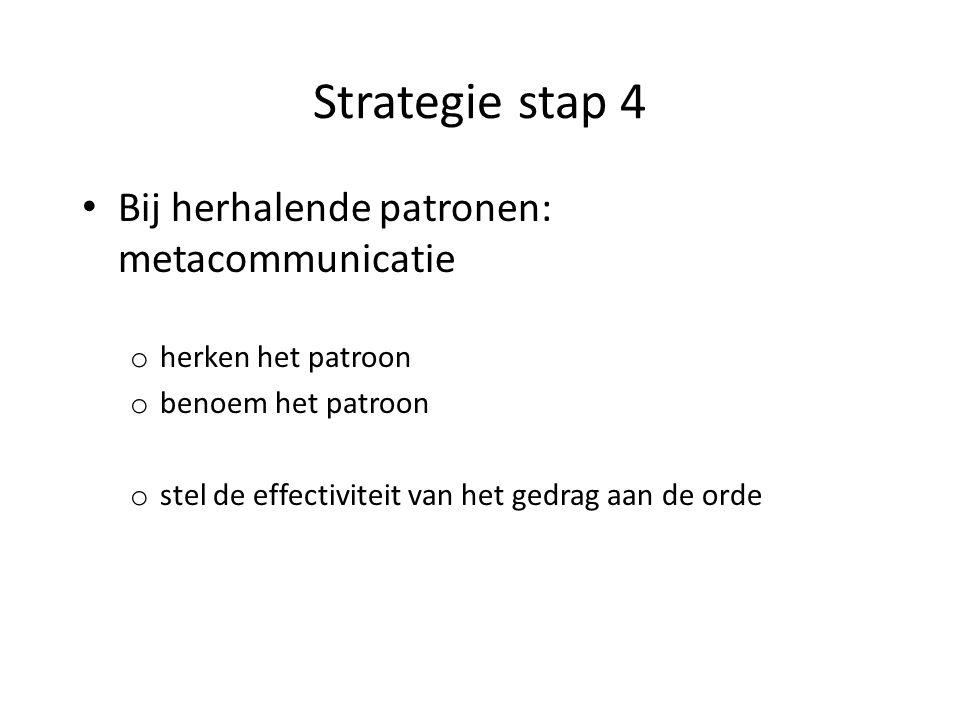 Strategie stap 5 Planmatige aanpak: o creëer enige afstand tussen uzelf en de moeilijke persoon: labellen kan helpen.