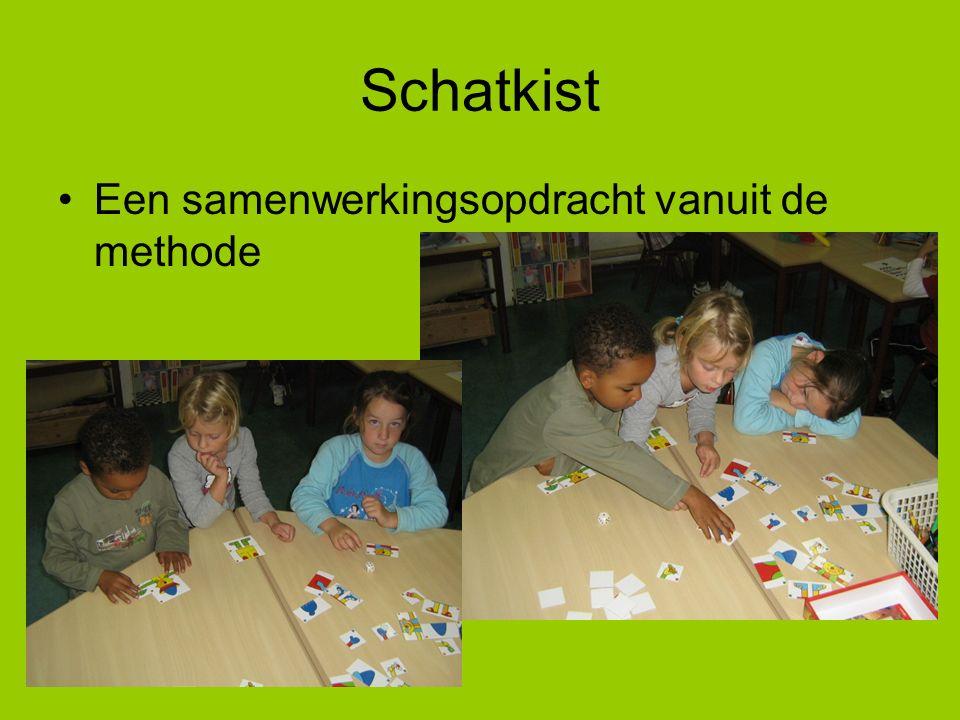 Maatjeswerk in groep 2 -samen een gezelschapsspelletje doen -samen met ontwikkelingsmateriaal werken