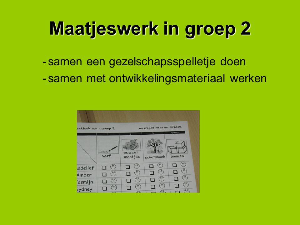 De weektaak van groep van 2 Een aantal individuele opdrachten Een samenwerkingopdracht met je maatje Een extra opdracht