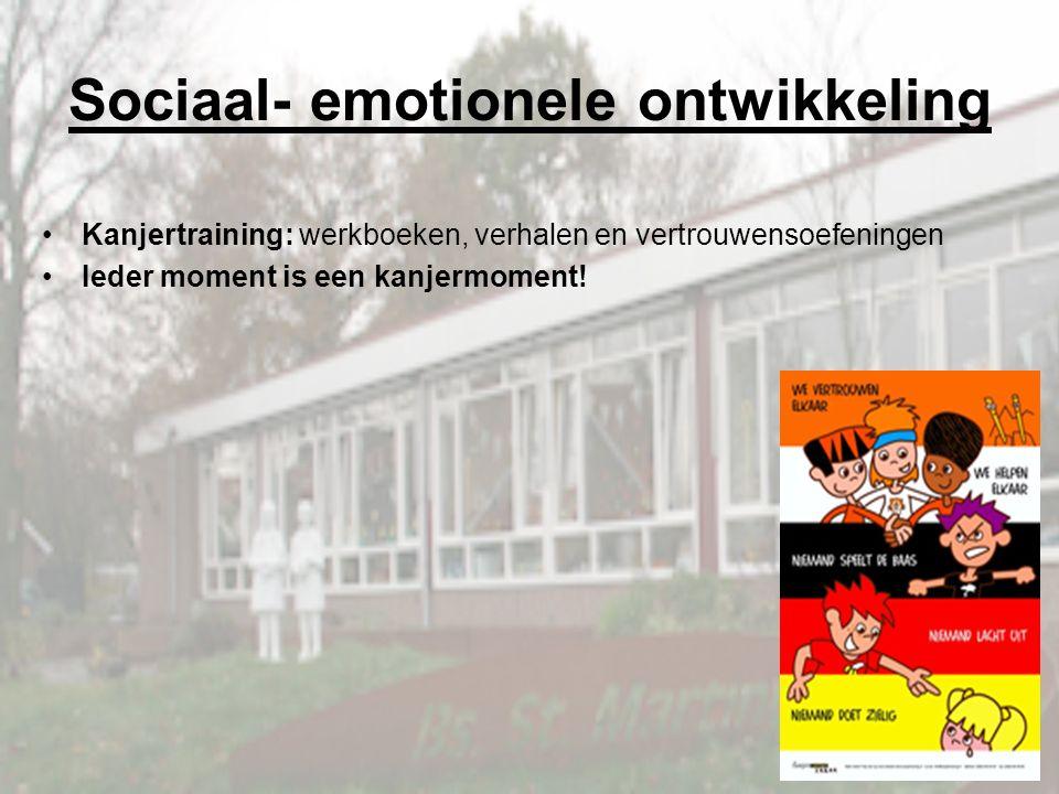 Sociaal- emotionele ontwikkeling Kanjertraining: werkboeken, verhalen en vertrouwensoefeningen Ieder moment is een kanjermoment!
