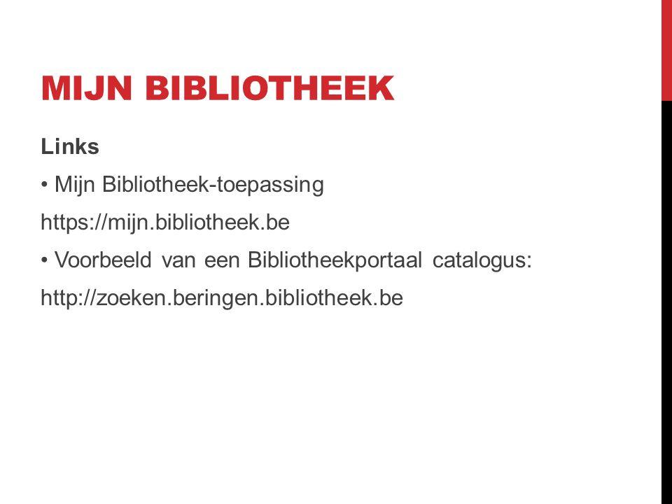 DE BIBLIOTHEEKPAGINA -Uitleningen -Verlengen -Bedragen -uitleenhistoriek