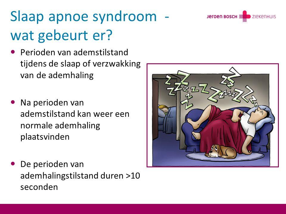 Slaap apnoe syndroom - wat gebeurt er.