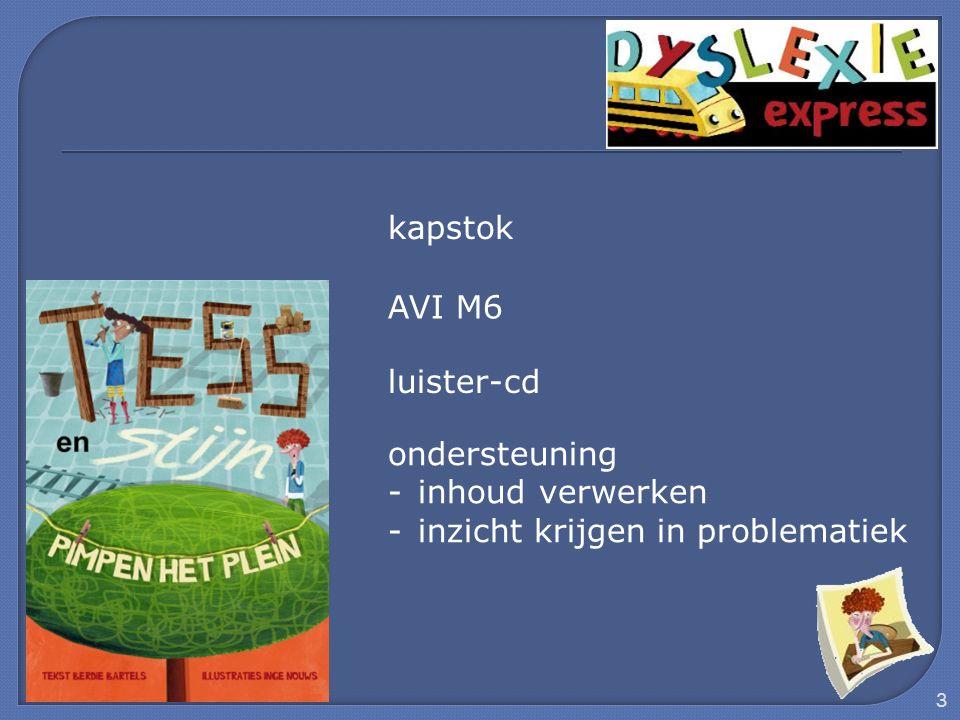 3 kapstok AVI M6 luister-cd ondersteuning -inhoud verwerken -inzicht krijgen in problematiek