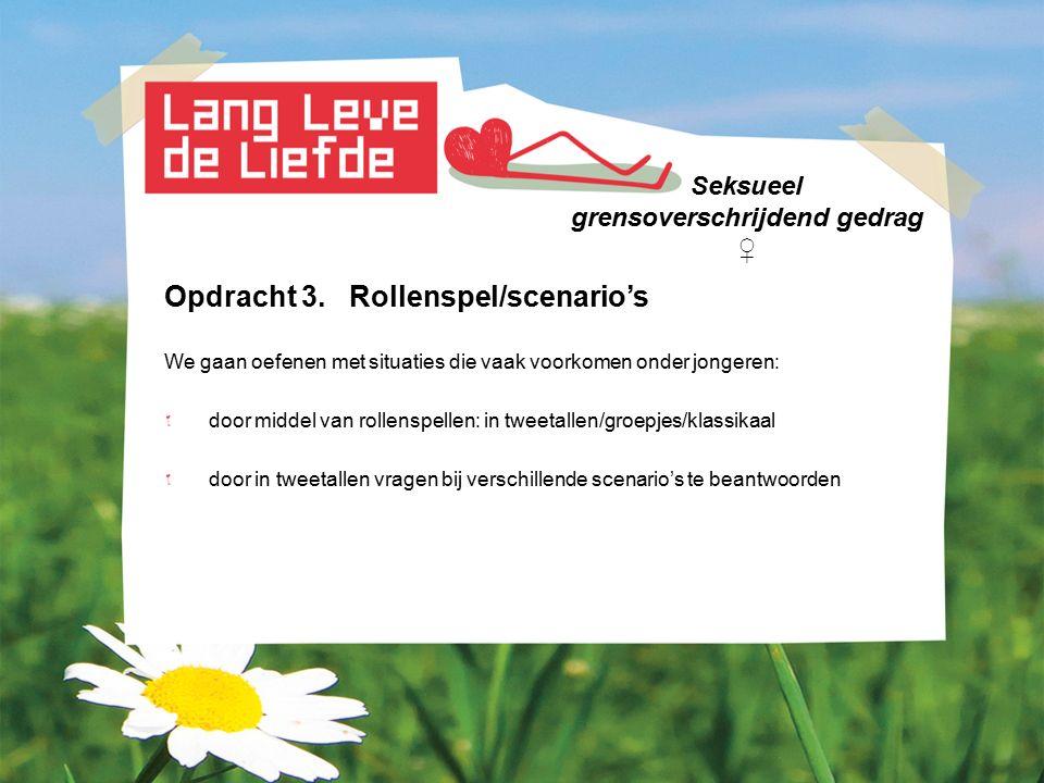 Seksueel grensoverschrijdend gedrag ♀ Afronding Meer informatie: www.sense.info o.a.