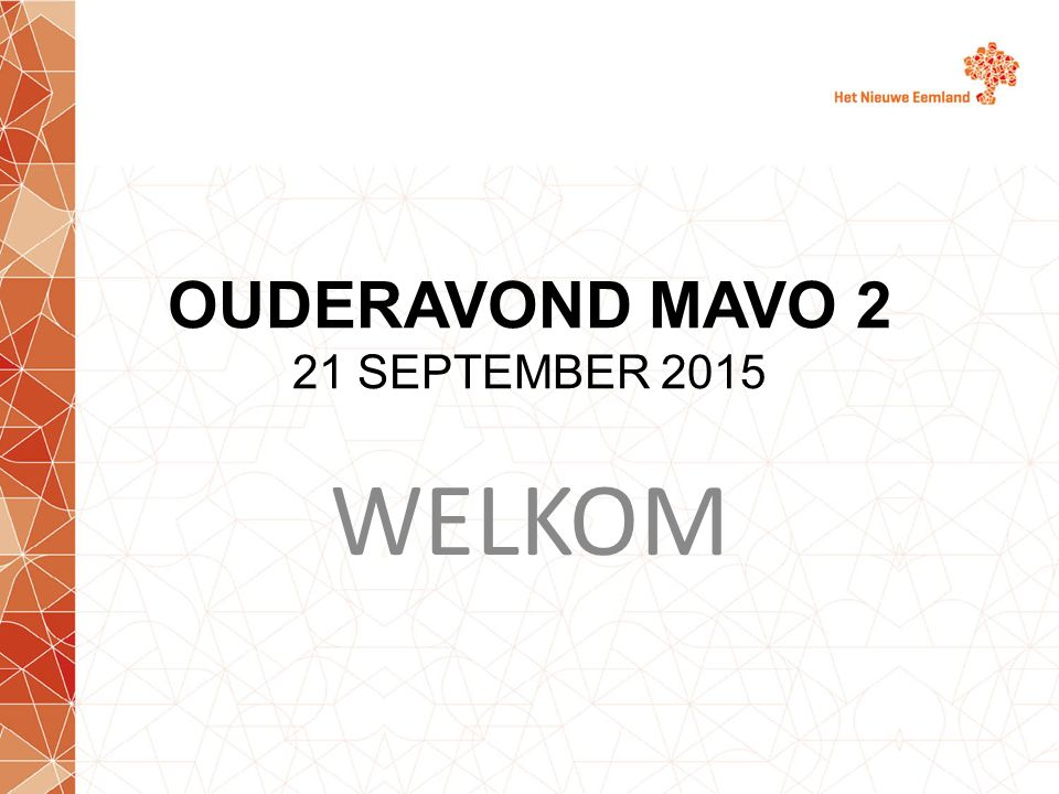 OUDERAVOND MAVO 2 21 SEPTEMBER 2015 WELKOM