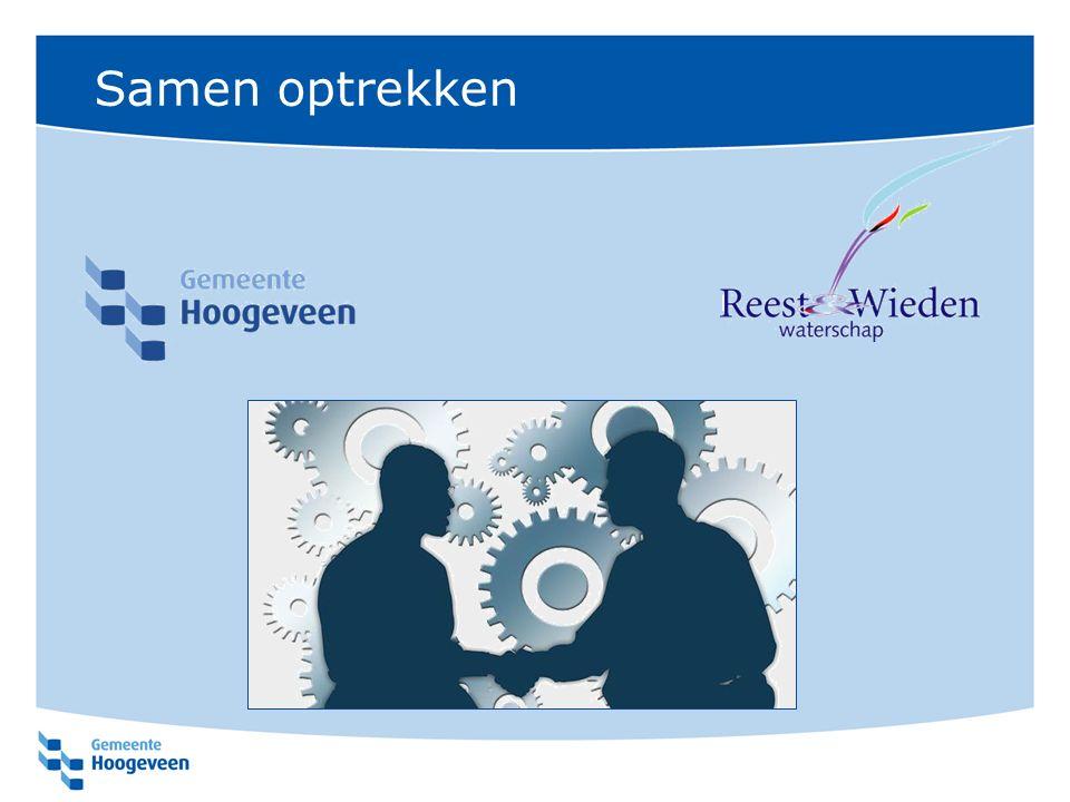 Impactstatus Stimuleringsprogramma 3-trapsproject wat al liep Hittestress – Neerslagstress – Waterstructuur Ingediend bij Ministerie I & M (Stimuleringsprogramma Ruimtelijke adaptatie) Nu één van de 5 eerste impactprojecten Rijksbijdrage voor een project dat bijdraagt aan de landelijke discussie over klimaatadaptatie (www.ruimtelijkeadaptatie.nl)