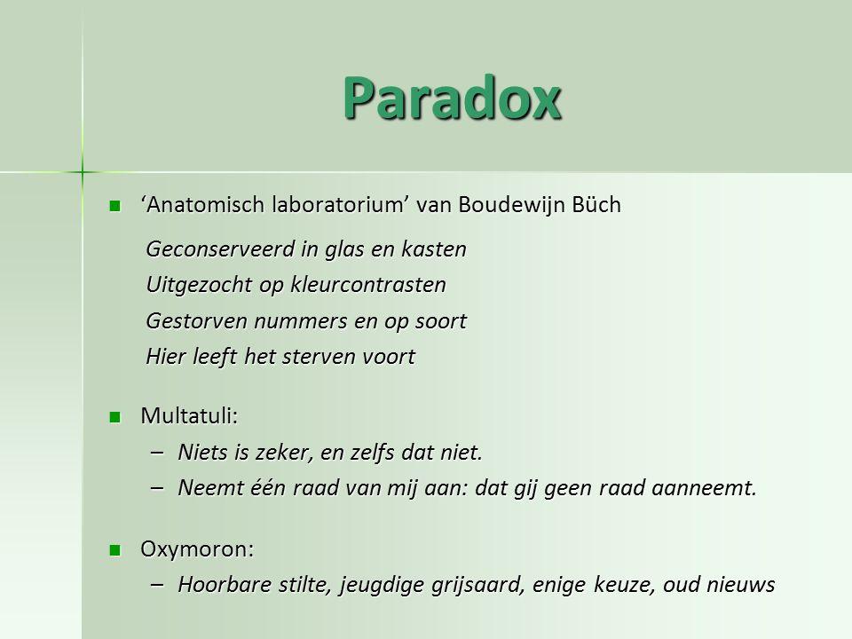 Paradox 'Anatomisch laboratorium' van Boudewijn Büch 'Anatomisch laboratorium' van Boudewijn Büch Geconserveerd in glas en kasten Uitgezocht op kleurc