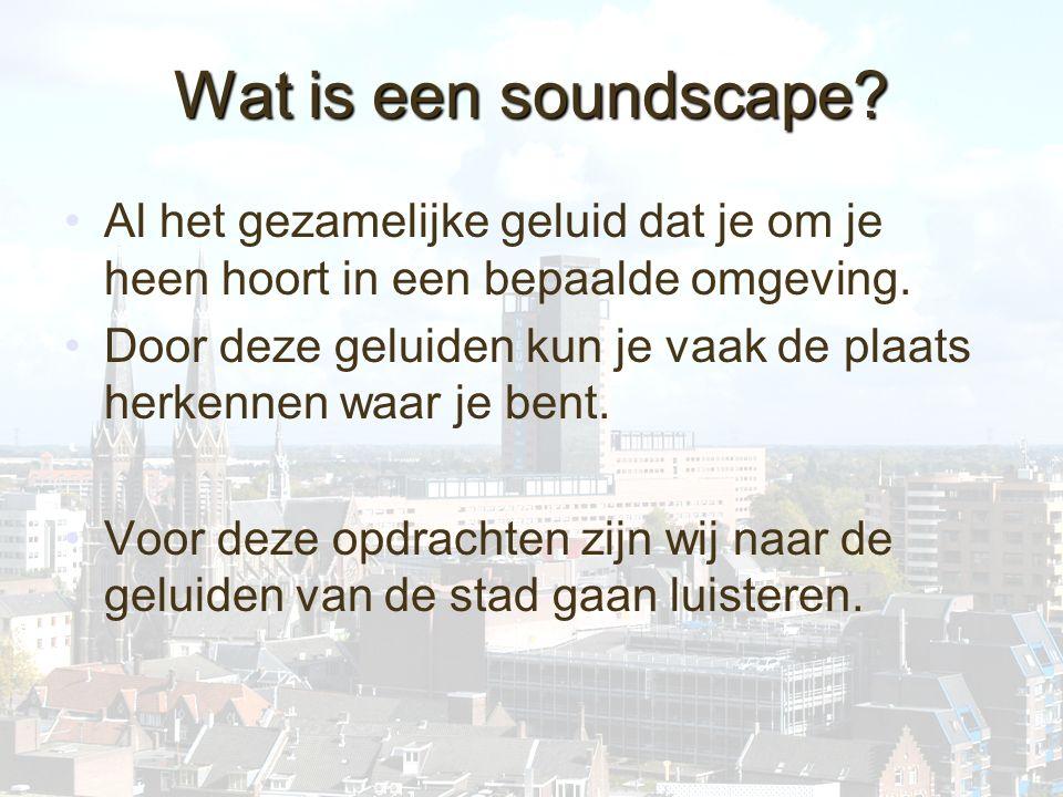 Soundscape Barbara Peters Joris Knol Chantal Brosius Rick Jansen Liselotte van Hasselt