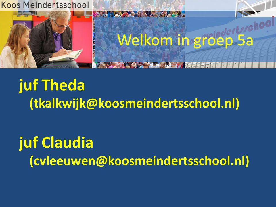 juf Theda (tkalkwijk@koosmeindertsschool.nl) juf Claudia (cvleeuwen@koosmeindertsschool.nl)
