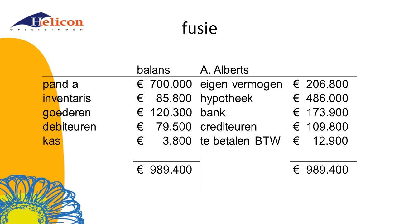 fusie balansA.