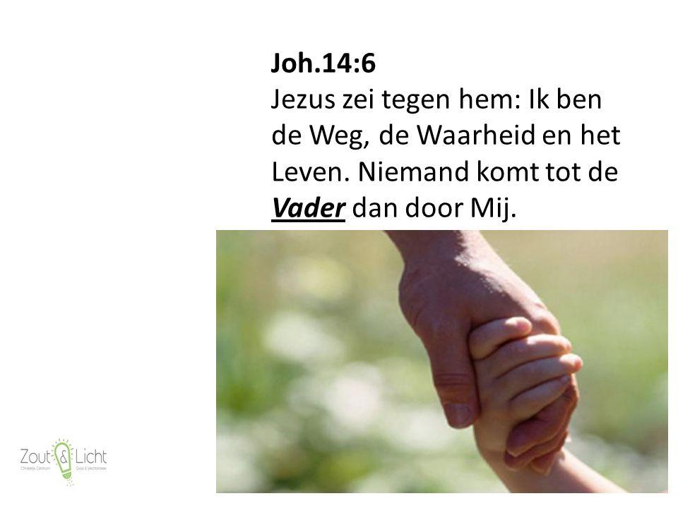13 Joh.14:6 Jezus zei tegen hem: Ik ben de Weg, de Waarheid en het Leven.
