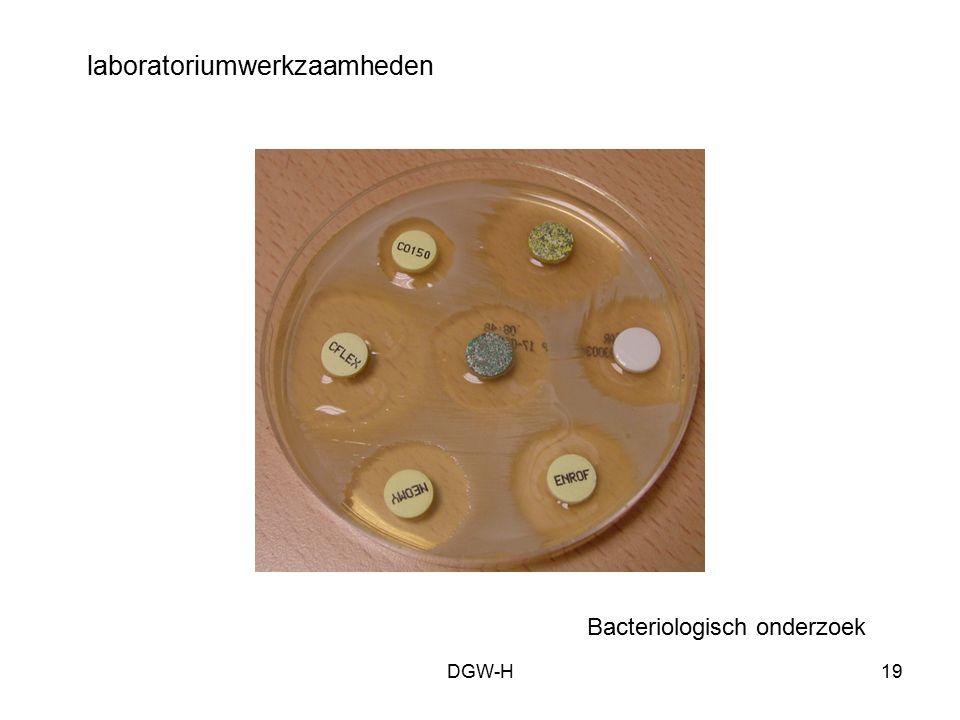 laboratoriumwerkzaamheden Bacteriologisch onderzoek DGW-H19