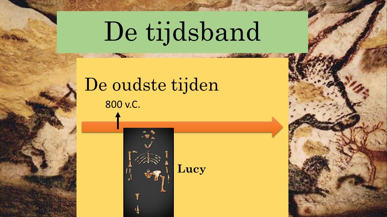 Archeologische vondsten Stel: een archeoloog vindt een stuk van een bewerkte steen.