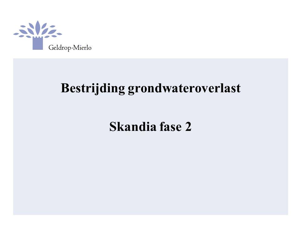 Bestrijding grondwateroverlast Skandia fase 2