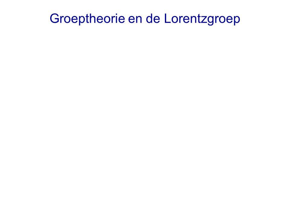 Groeptheorie en de Lorentzgroep