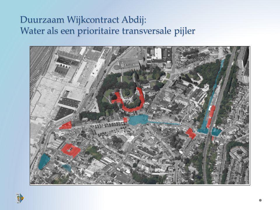 Duurzaam Wijkcontract Abdij: Water als een prioritaire transversale pijler