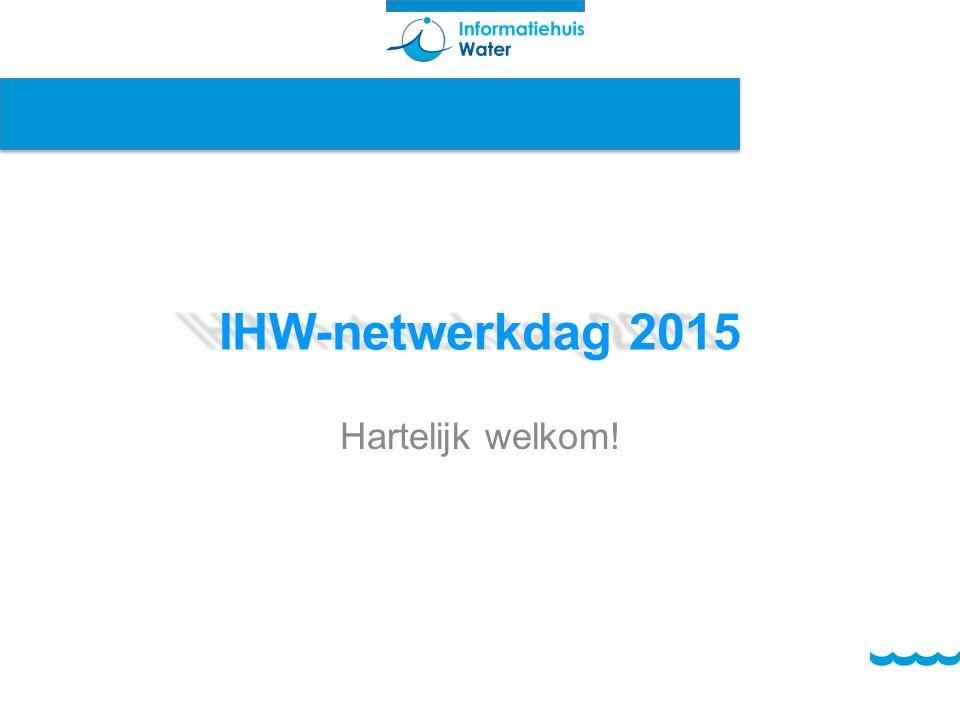 IHW-netwerkdag 2015 Hartelijk welkom!