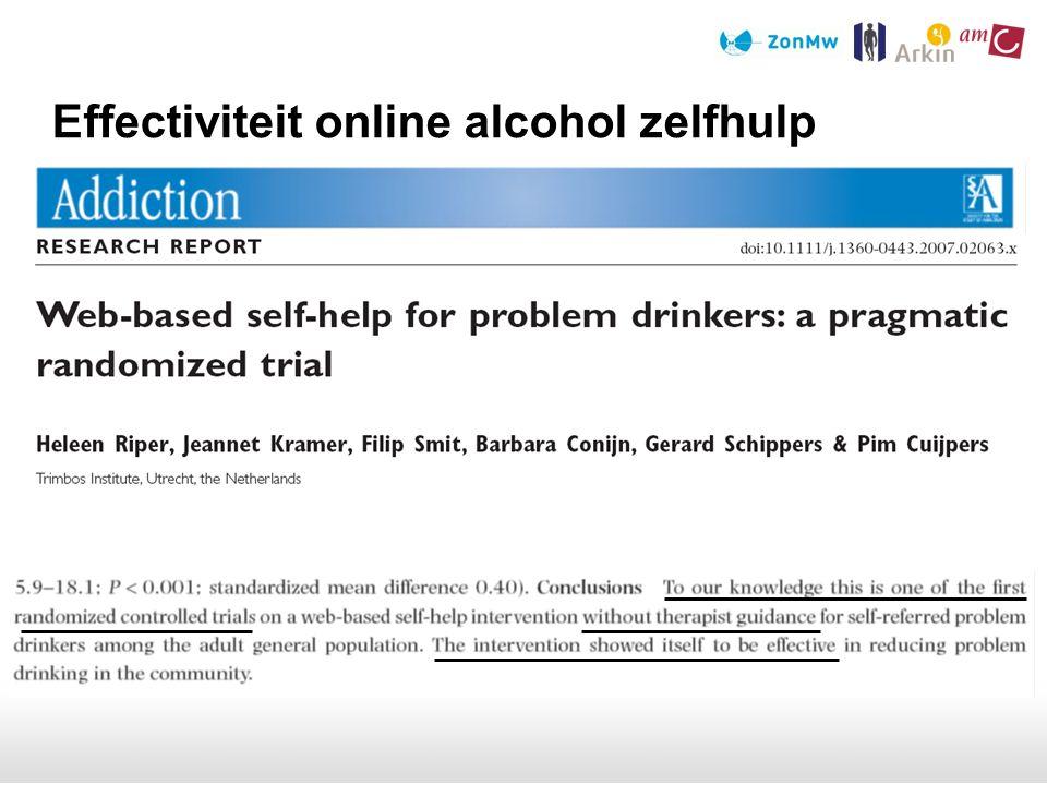 Effectiviteit online alcohol zelfhulp