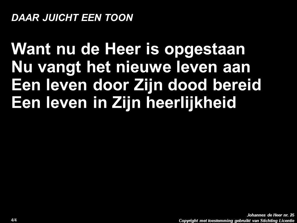 Copyright met toestemming gebruikt van Stichting Licentie Johannes de Heer nr.