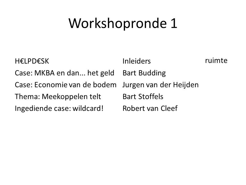 Workshopronde 1 H€LPD€SK Case: MKBA en dan...