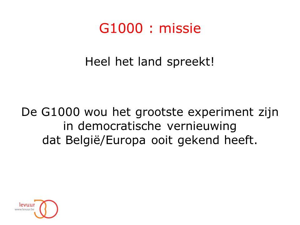 G1000 : missie Heel het land spreekt.