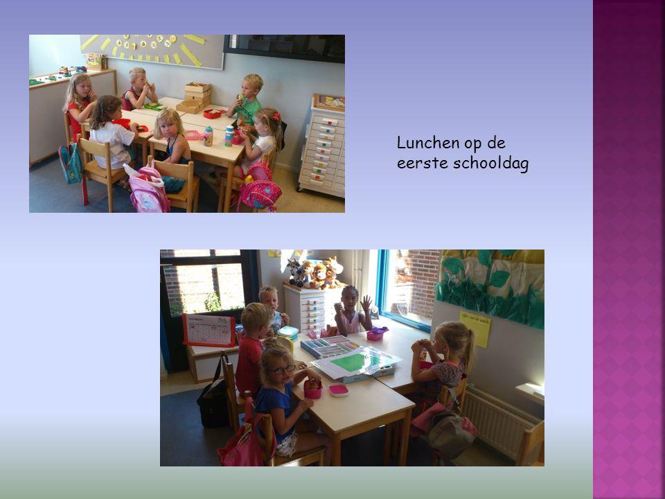 Lunchen op de eerste schooldag