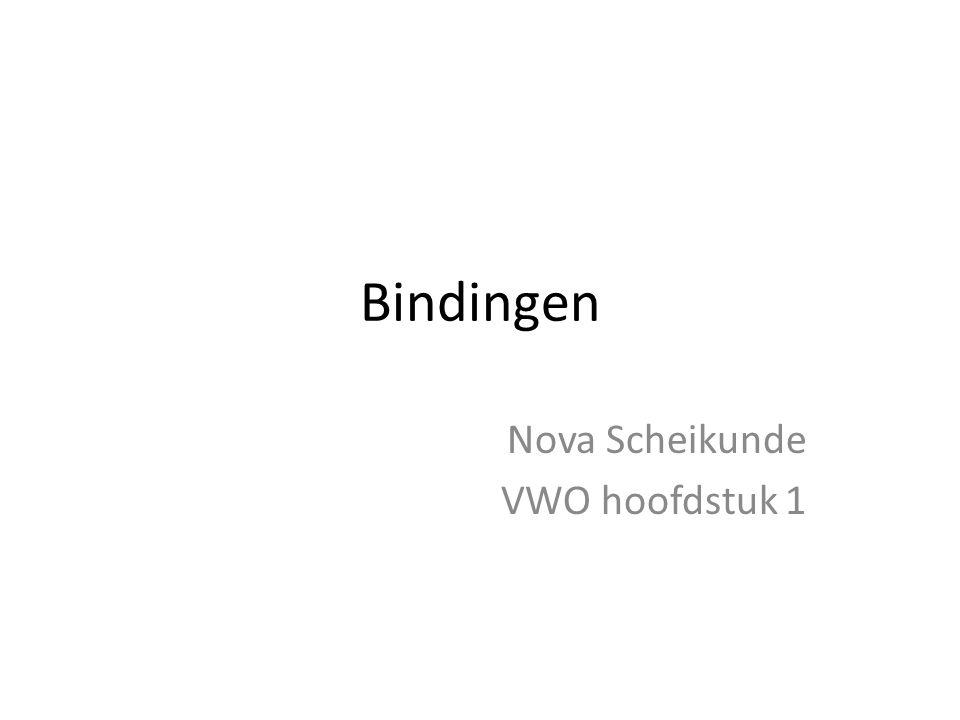 Bindingen Nova Scheikunde VWO hoofdstuk 1