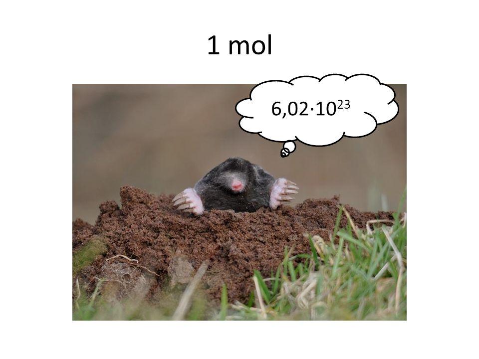 1 mol 6,02∙10 23