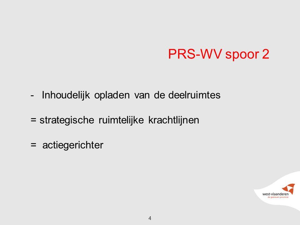 PRS-WV spoor 2 -Inhoudelijk opladen van de deelruimtes = strategische ruimtelijke krachtlijnen = actiegerichter 4