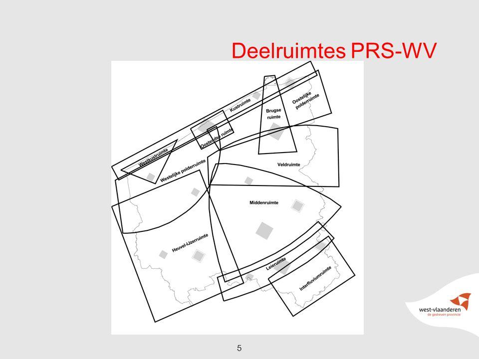 Huidig PRS-WV -Globale principes -Thematische structuren met gebiedsgerichte benadering -Deelruimtes : 'optelsom' thematische structuren 6