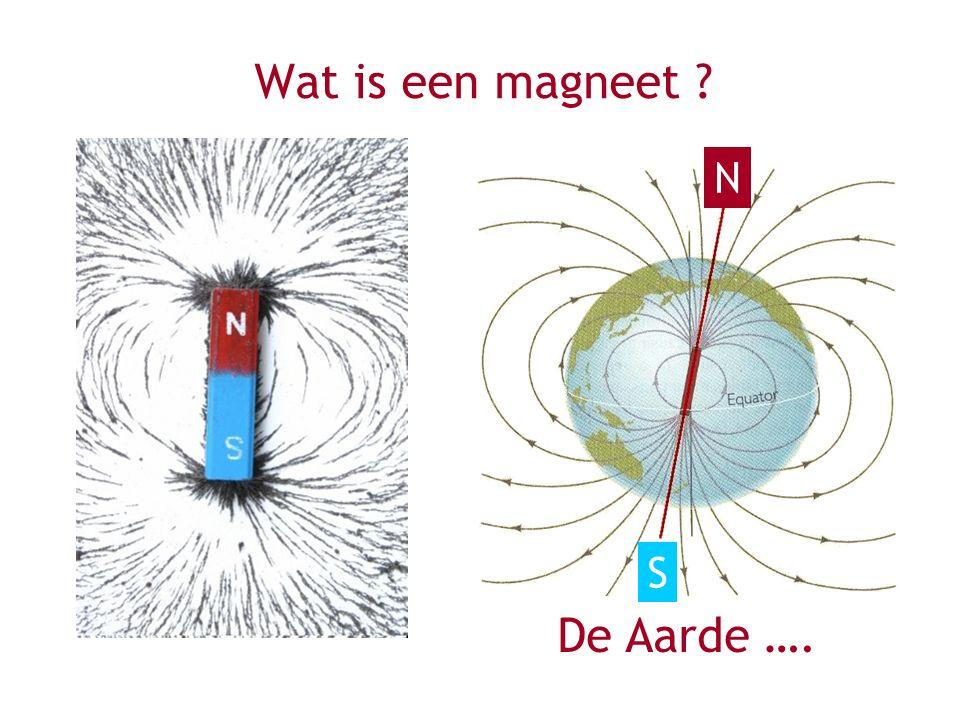 Wat is een magneet ? De Aarde …. N S