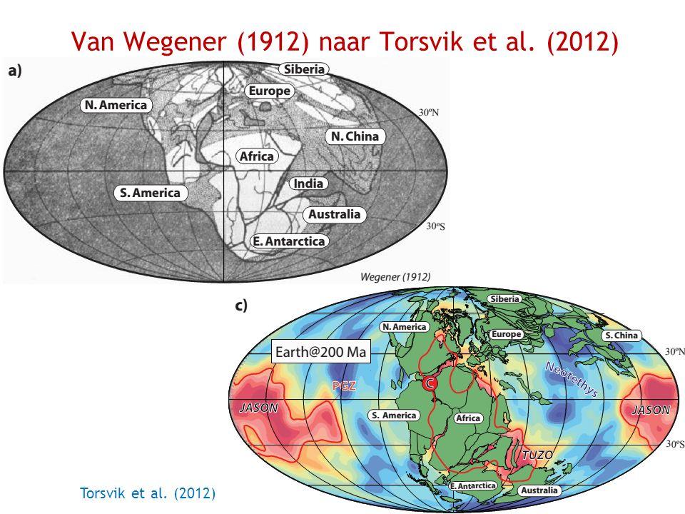 Van Wegener (1912) naar Torsvik et al. (2012) Torsvik et al. (2012)