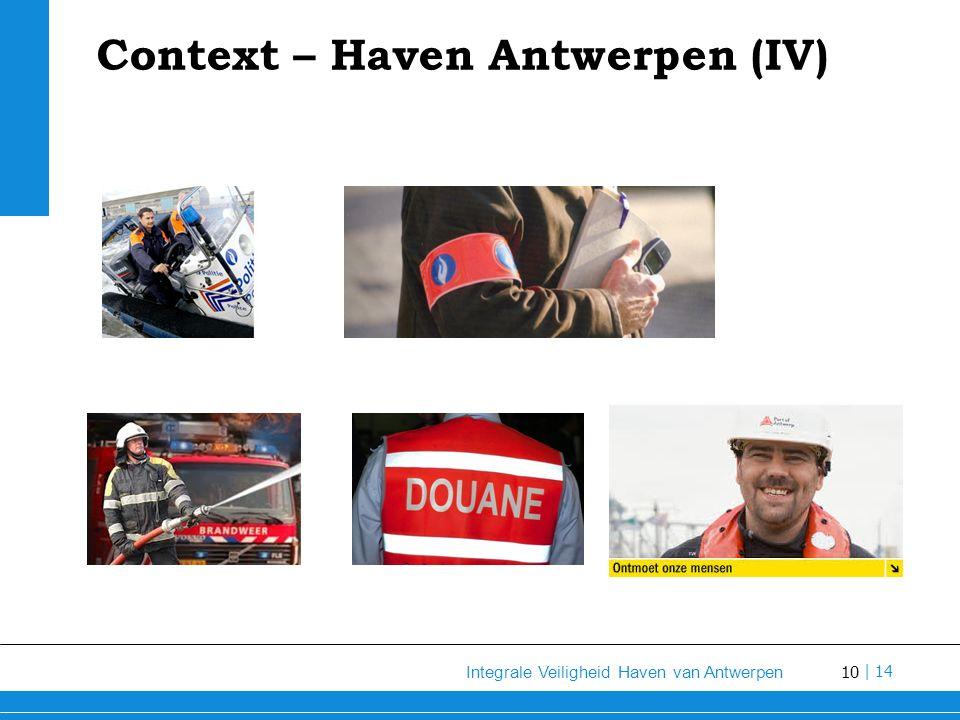 10 Integrale Veiligheid Haven van Antwerpen | 14 Context – Haven Antwerpen (IV)