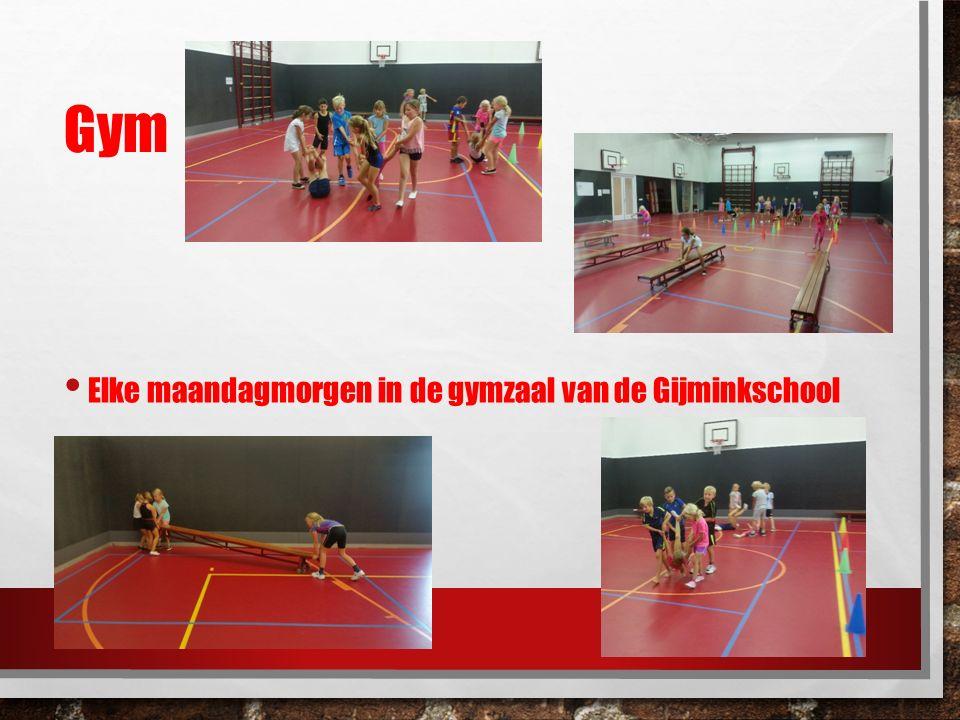 Gym Elke maandagmorgen in de gymzaal van de Gijminkschool