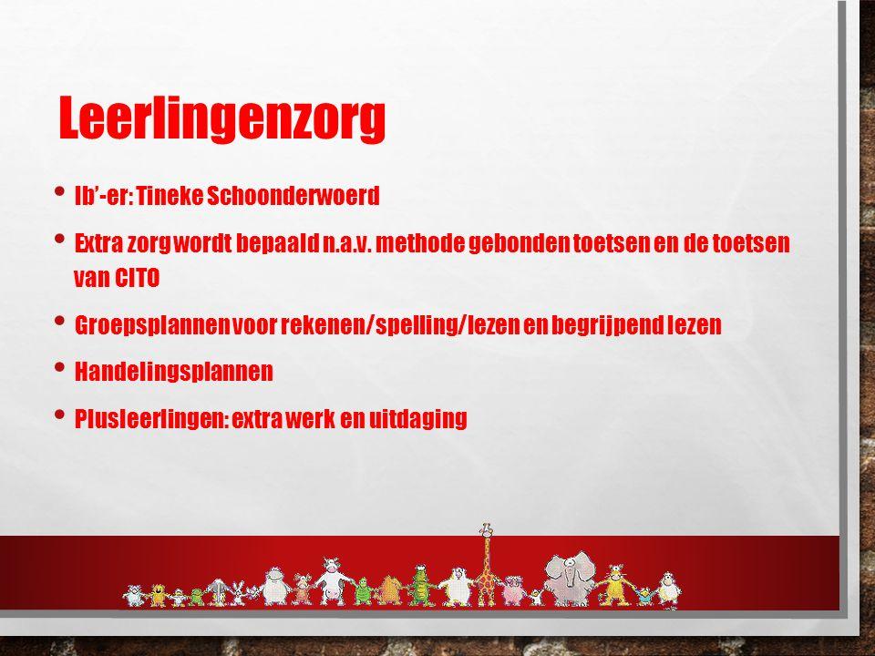 Leerlingenzorg Ib'-er: Tineke Schoonderwoerd Extra zorg wordt bepaald n.a.v.