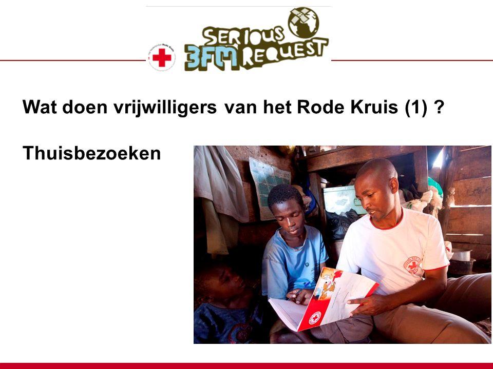 Wat doen vrijwilligers van het Rode Kruis (1) ? Thuisbezoeken