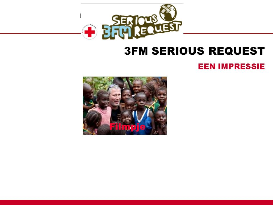 3FM SERIOUS REQUEST EEN IMPRESSIE Filmpje