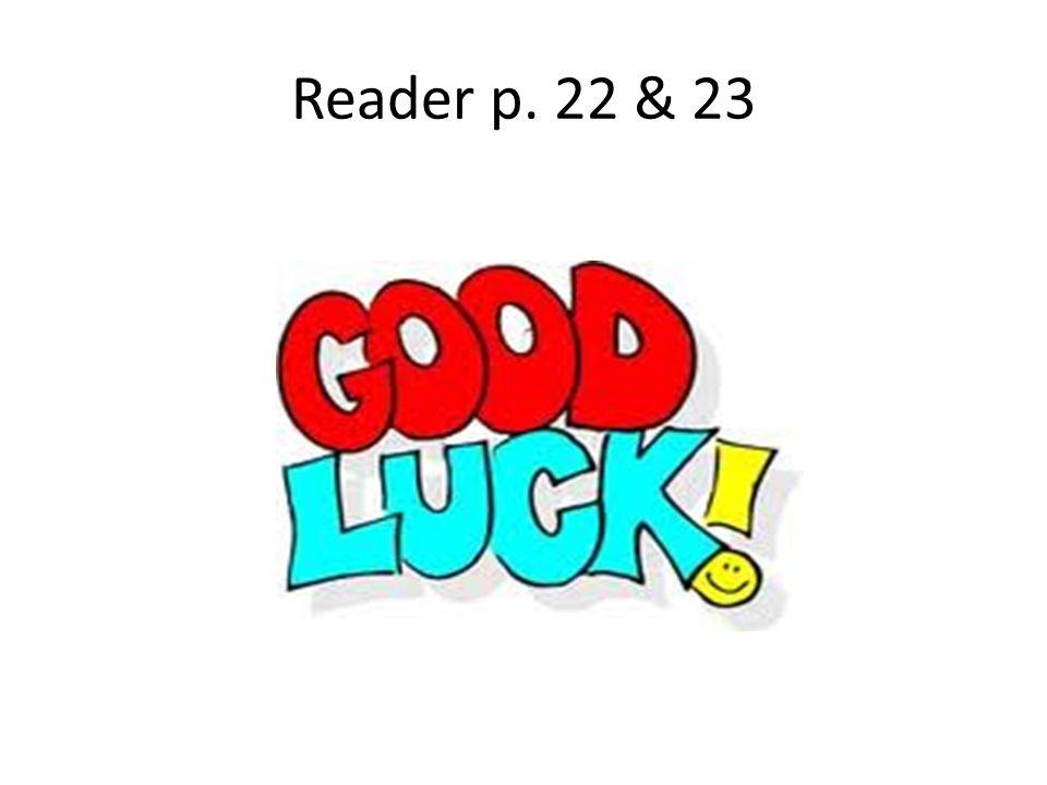Reader p. 22 & 23