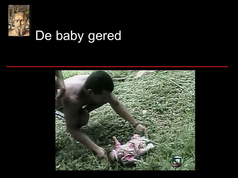 De baby gered