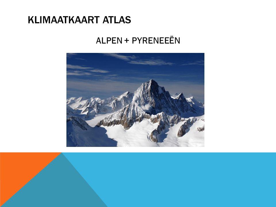 KLIMAATKAART ATLAS ALPEN + PYRENEEËN
